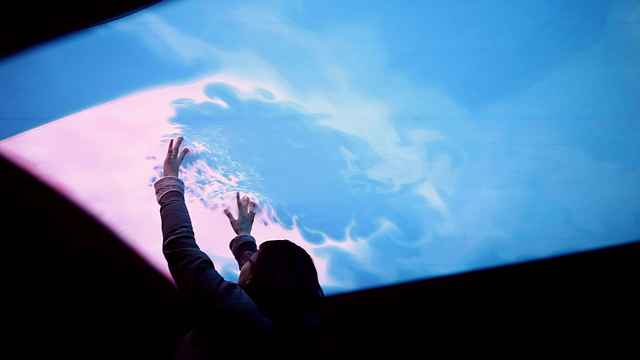 Cloud-Pink-Interactive-Ceiling-by-everyware